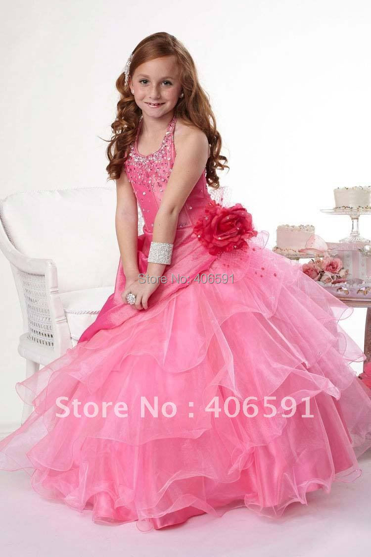 free shipping kids party dresses long 2015-in Dresses from Mother ...