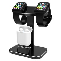 Compatible 2 In 1 Watch Stand Replacement For Apple Watch I Watch Charging Dock Station Stand Holder Aluminum Airpods Stand