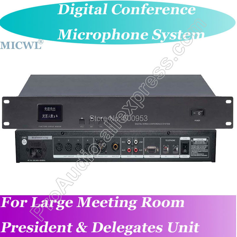Classic 2 President 18 Delegates Wired Digital Microphone Conference System Host with Teleconference function in Microphones from Consumer Electronics