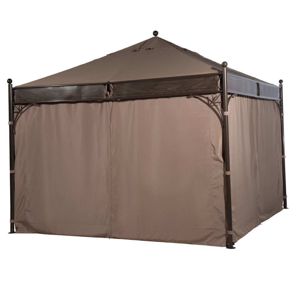 Abba Patio 12 X 12 Ft Outdoor Art Steel Frame Garden Party Canopy Backyard  Gazebo With 4 Side Walls, Brown In Awnings From Home U0026 Garden On  Aliexpress.com ...