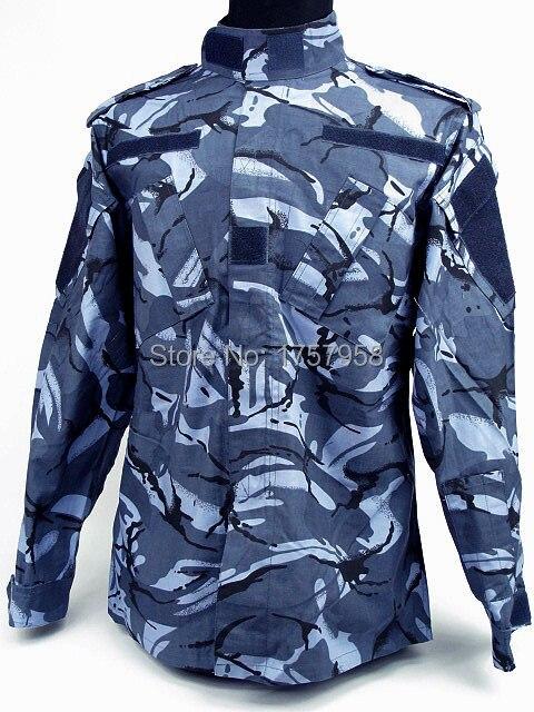 USMC Army Marine DPM Camo azul marino Conjunto de uniformes estilo - Ropa deportiva y accesorios