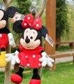 Pequeño juguete lindo de la felpa del ratón de mickey mouse regalo de cumpleaños muñeca de juguete muñeca de la muchacha roja minny cosas acerca de 35 cm