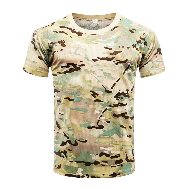 Summer Military Camouflage Men   T  -  shirt   Casual Tactical Army Combat O Neck   T     Shirt   Men Quick Dry Short Sleeve Breathable   t     shirt