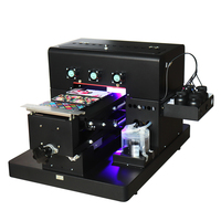 A4 size UV Printer LED Flatbed Printer with emboss effect for Phone Case Printer, wooden, leather, ABS,TPU,T shirt.pen,glass