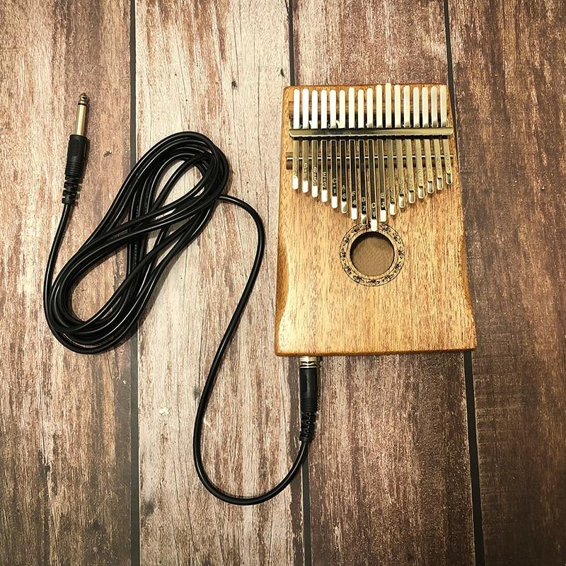 17 Key Kalimba African Solid Pine Mahogany Thumb Finger Piano Sanza Mbira Calimba Play with Guitar