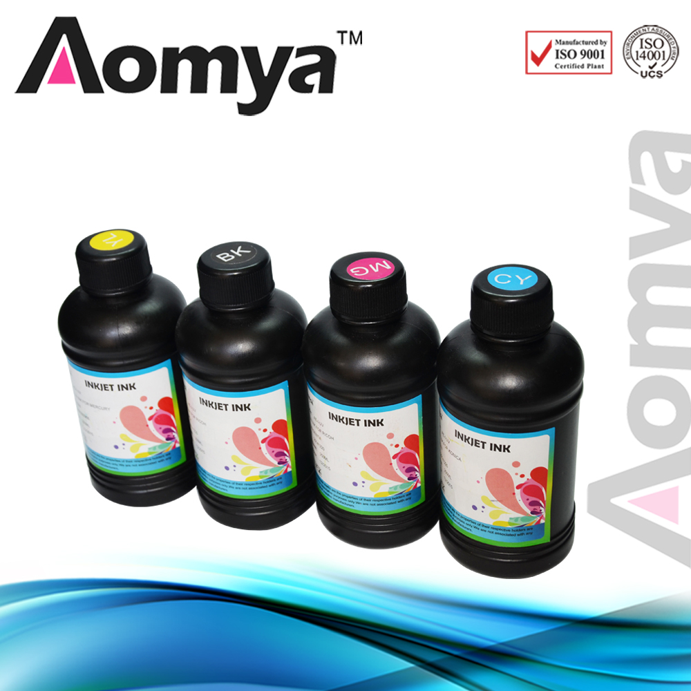 250ml 4Bottles Set LED Flexible UV Ink For Epson UV Flatbed Printer UV Led Ink For