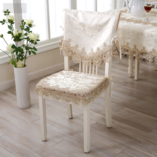 Su0026V Original Design Elegant Water Soluble Embroidery Lace Chair Cushion  Fabric Lace Back Cushion Wedding Chair