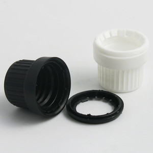 Image 5 - 200 x 5ml 10ML 15ml 20ml 30ml 50ml 100ml Cobalt Blue Mini Glass Essential Oil Bottle With White Black Tamper Evident Cap Reducer