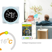 купить WiFi Thermostat Voice Control Gas Boiler Heating Thermostat Temperature Controller LCD Digital Touch Screen Programmable Alexa в интернет-магазине
