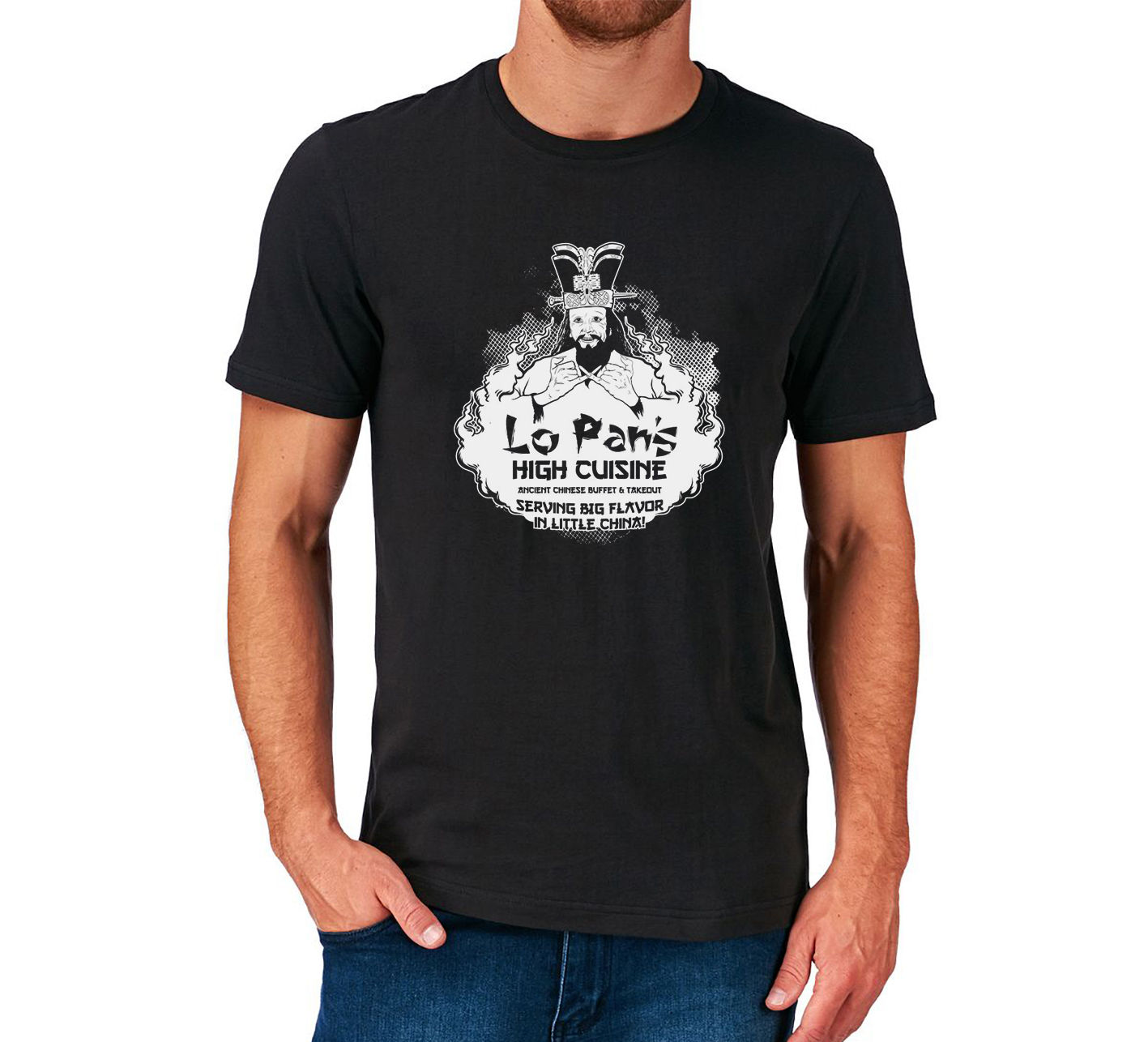 Big Trouble In Little China T Shirt Lo Pan S Cuisine 1980 S Film Kurt Russell