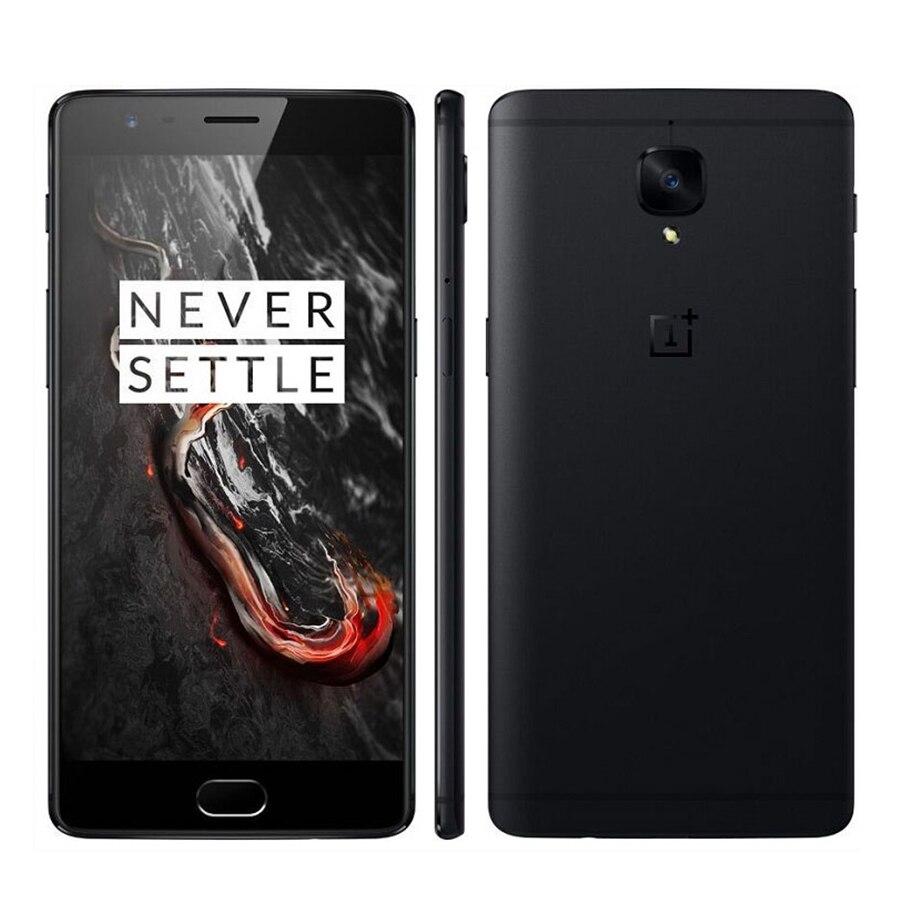 Original New Oneplus 3T A3010 4G LTE Mobile Phone 5.5 Inch 6GB RAM 128GB ROM Snapdragon 821 Dual SIM Google Play Smart Phone