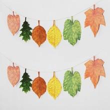 6pcs 27cm Leaves Assorted Autumn Falling Decor Fall Nature-Inspired Home Decorations Mori Literature