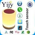 Sem fio Bluetooth Speaker Chamada Hands-free de Toque Colorida LED Lâmpada L Com o Cartão Do TF Leitor de Música Inteligente LEVOU Noite luz