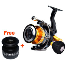 14+1BB Double Spool Fishing Reels Metal Spinning Carp Trout Bass Reel+ Spare Line Cup Left/Right Hand Freshwater Saltwater Wheel 14 1bb double spool fishing reels metal spinning carp trout bass reel spare line cup left right hand freshwater saltwater wheel