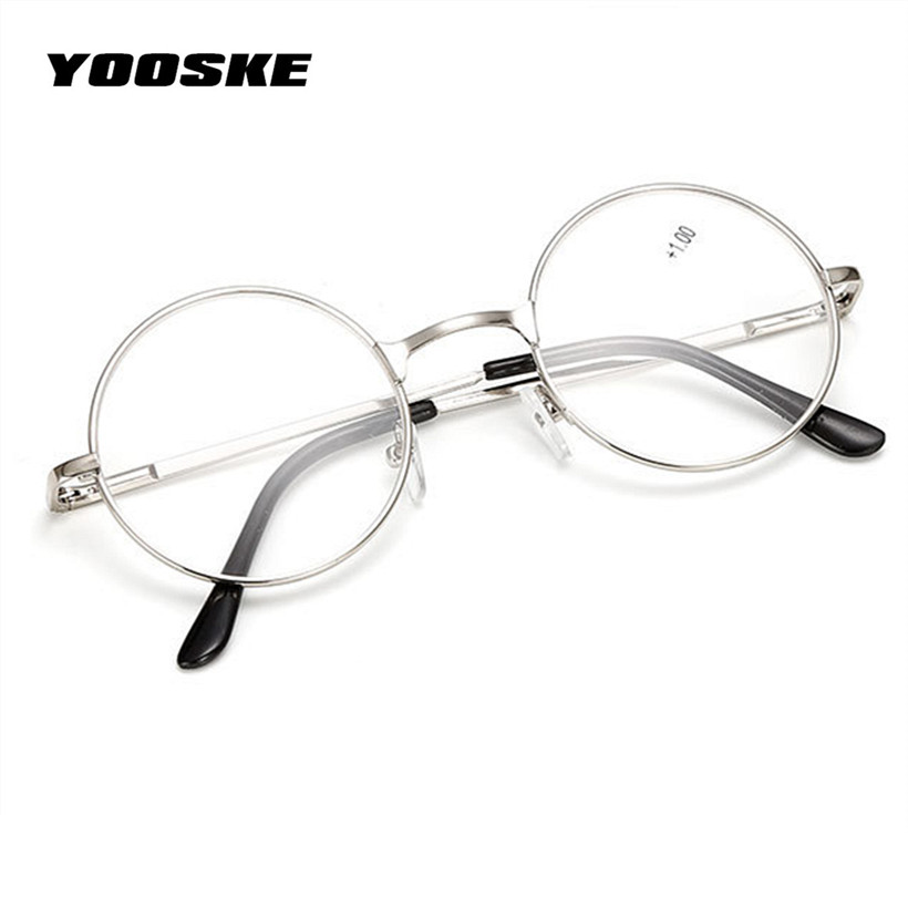 52a24bae21 YOOSKE Retro Men Women Round Mirror Reading Glasses For Harry Potter Metal  Frame Glasses Mirror Personalized