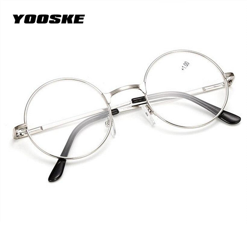 YOOSKE Retro hombres mujeres espejo gafas de lectura para Harry Potter de  marco de Metal espejo personalizado 4df82fe06ed0