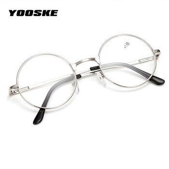 5238396c5e YOOSKE Retro hombres mujeres espejo gafas de lectura para Harry Potter de  marco de Metal espejo personalizado, 1,0, 1,5, 2,0, ...