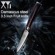 ФОТО xyj kitchen knife 3.5 inch damascus steel paring kinfe vg10 new arrival 2018 damascus pattern fruit cooking tools accessories
