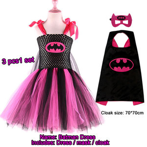 Image 2 - Superman Batman tutu rok voor meisjes jurk met masker superheld stijl Kids kostuum kinderen Cosplay Kerstmis Halloween tutu jurk