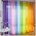 Envío gratis panel de la cortina escarpada voile