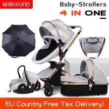 CE standard luxury high landscape stroller gold frame 0-3 ye