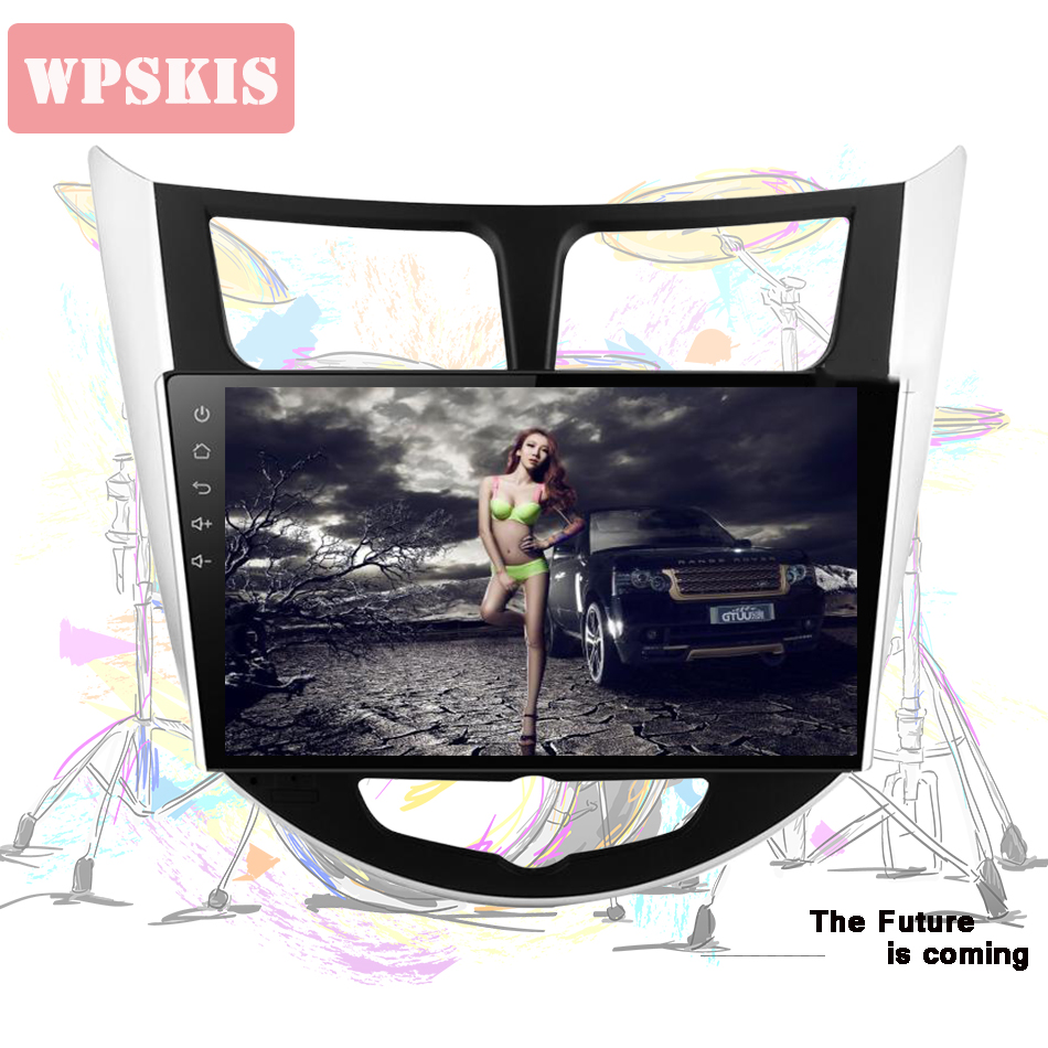 Android 9 1 10 CAR DVD player for Hyundai Solaris accent Verna i25 with 2 din