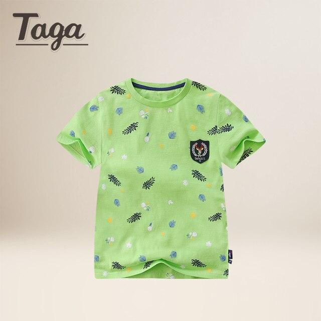 4ca04b9a1fe6 TAGA Children s T shirt Boys T-shirt Baby Clothing Little Boy Summer Shirt  Tees Designer Cotton Cartoon Clothes 3-14Y beach tops