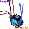 Оптовая продажа 1 шт. гонки 25A 35A 60A SL безщеточный регулятор скорости ESC для RC 1/10 1:10 1:12 тележки автомобиля падения бесплатная доставка