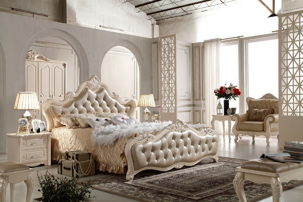F81102 French style bed modern bedroom furniture bed-in Beds from ...