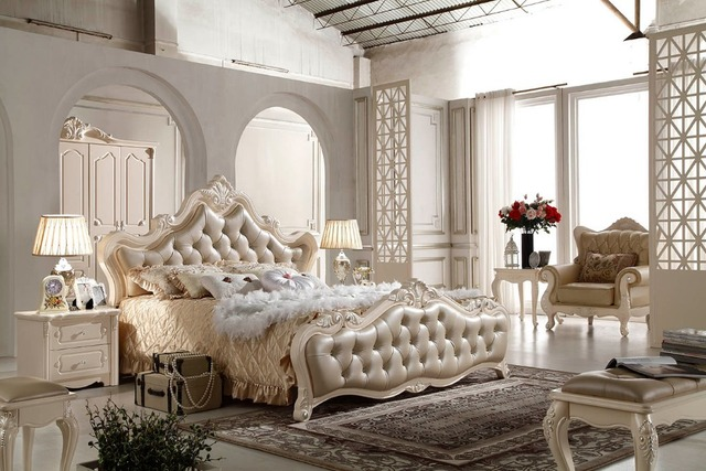 Beautiful F81102 French Style Bed Modern Bedroom Furniture Bed