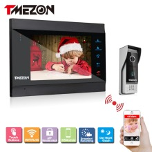 Tmezon Smart IP Video Door Phone 7″ TFT Monitor 1200TVL Camera Intercom Security Doorbell System Unlock Via Monitor and Phone