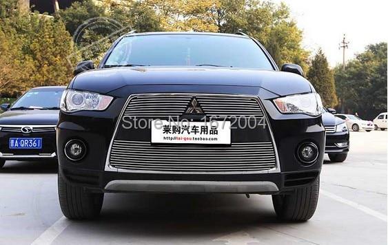 Передняя Центральная решетка решетки 3 шт. Накладка для Mitsubishi Outlander EX Evolution X 2011-2012