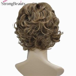 Image 3 - Perruque synthétique beauté forte avec bouts bouclés, 17 couleurs, pour femmes, perruque en Fiber courte avec frange superposée