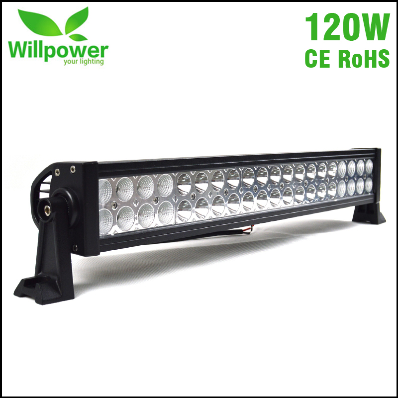 CE Rohs passed waterproof offroad 12volt car roof top combo beam 22 inch 120w LED font