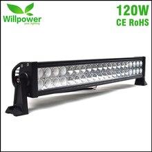 CE Rohs aprobó combo haz offroad impermeable 12 voltios car roof top 22 pulgadas 120 w LED barra de luz 4×4
