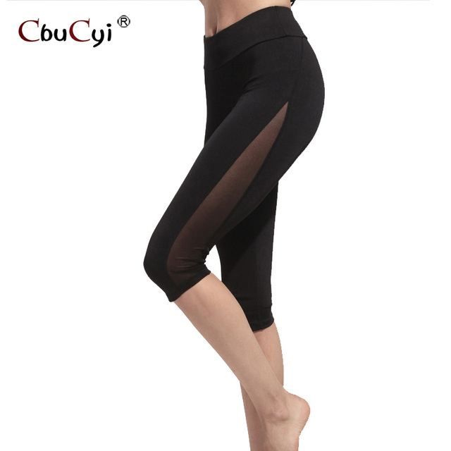5e4e0785675ae Negro leggings calzas deportivas mujer fitness Workout ropa para mujeres  Calf-longitud Pantalones push up