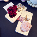 Flower Pearl Tassel Mirror Case Cover For Iphone 7 6 6S Plus SE 5S 4S Samsung Galaxy Note 7 5 4 3 S5/4/3 S7 S6 Edge Plus A5/7/8