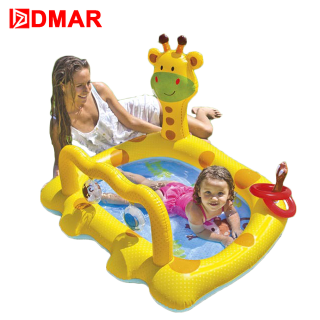 Superb DMAR Inflatable Giraffe Pool Toys For Kids Infants Baby Swimming Pool Float  Water Game Bathing Pool