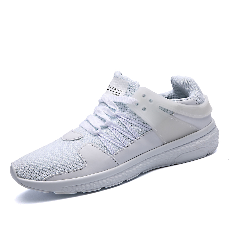 Men's Running Shoes Lightweight Outdoor White Sneakers Men Zapatillas Sneakers Hombre Breathable Mesh Sports Jogging Trainers 2016 new summer professional men s running shoes breathable mesh outdoor sports sneakers men trainers zapatos hombre 39 44