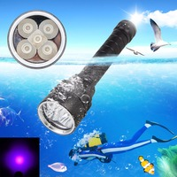 Super Brightness LED Portable Waterproof Flashlight Diver Scuba Diving Flashlight 100M Underwater 2000LM UV Scuba Diving Torch