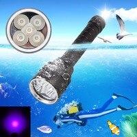 Super Helligkeit FÜHRTE Tragbare Wasserdichte Taschenlampe Diver Tauchen Taschenlampe 100 M Unterwasser 2000LM UV Scuba Tauchen Taschenlampe