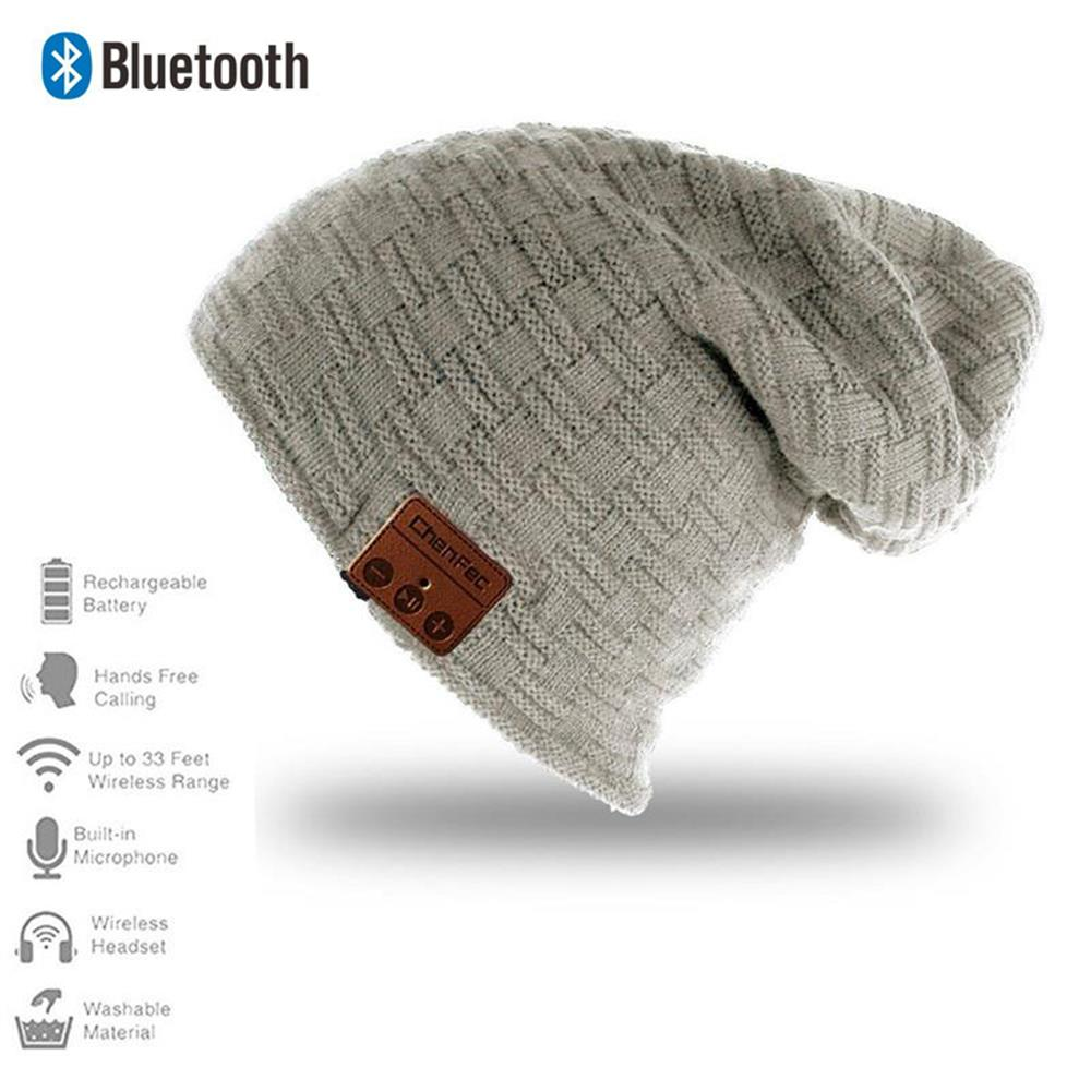 2018 Fashion Sport Wireless Bluetooth4.0 Headset Music Hat Smart Cap Headphones Keep Warm Winter Hat With Speaker Mic Earphones sport bluetooth music hat cap handsfree headset headphone built in speaker mic