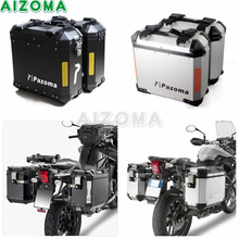 Motorcycle 36L Side Hardbags Kit Aluminum Side Box Storage Luggage Cases Universal for Yamaha Triumph Suzuki BMW F800GS F650GS black motorcycle 36l aluminum side box storage cases kit w mount bracket luaggage box universal for triumph bmw f800gs f800r abs