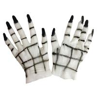 Halloween Rubber Horror Scary Cosplay Gloves Props Demon Ghost For Women