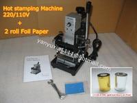 High Quality 220V 110V Manual Gold Hot Foil Stamping Machine Tipper Machine Card Tipper For Leather