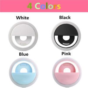Image 2 - Selfie טבעת selfie אור צילום תאורה עם USB תשלום ringlight Led טבעת עבור iPhone 6 7 X xiaomi אור עבור תמונה