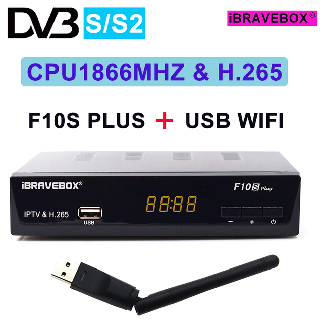7 cline for 1 year europeiBRAVEBOX F10S PLUS Satellite Receiver DVB-S2 Decoder USB WIFI recepteur satellite cccam iptv