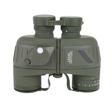 On sale Outdoor 10×50 Waterproof All-optical green film with a compass waterproof telescope Compass Reticle Illuminant Night Vision