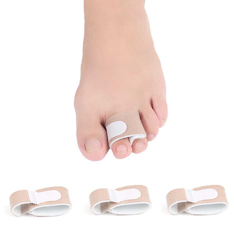 Látex dedo do pé straightener martelo dedo do pé hallux valgus corrector bandagem dedo separador splint envoltório pé cuidados maca 1 pc