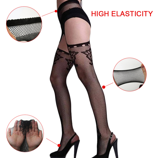 Sexy Lace Top Garter Lingerie Net Thigh Stocking Pantyhose